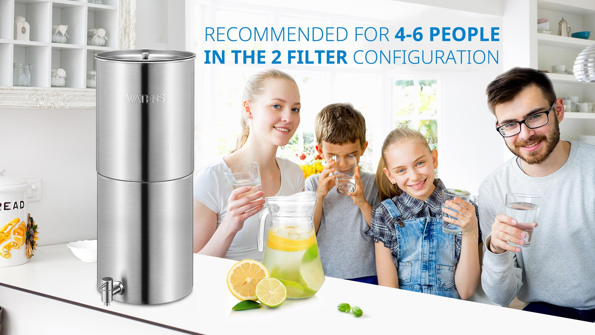 How to Install the Watens Gravity Countertop Water Filter System?